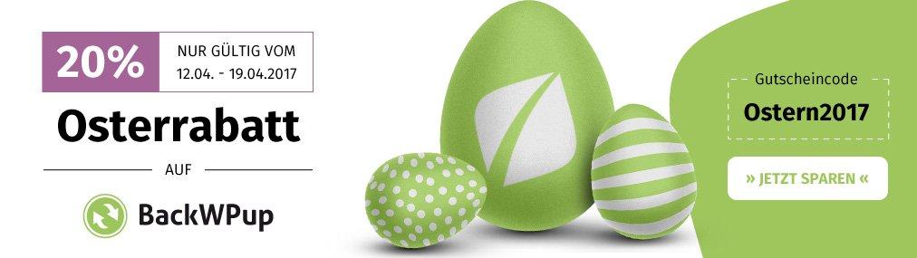 BackWPup Easter Sale bei Inpsyde!