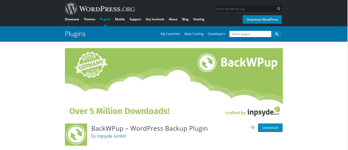 BackWPup Free download