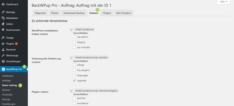 Dateiname zu lang - Ordner vom Backup ausschließen