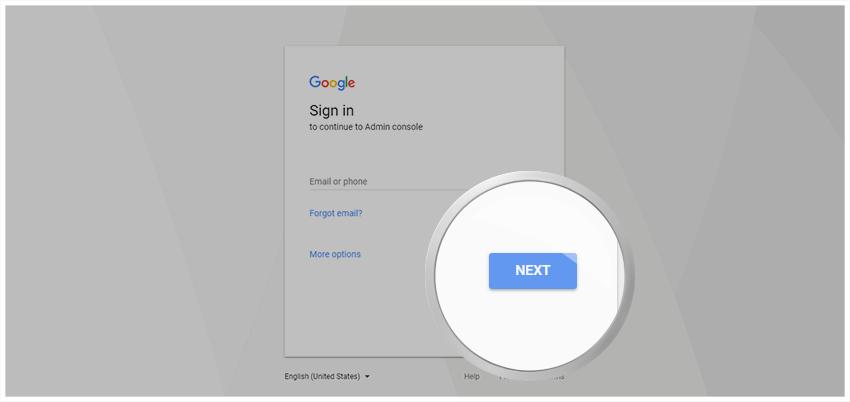 Google Drive Audit Log - Anmeldung Google Admin Konsole.