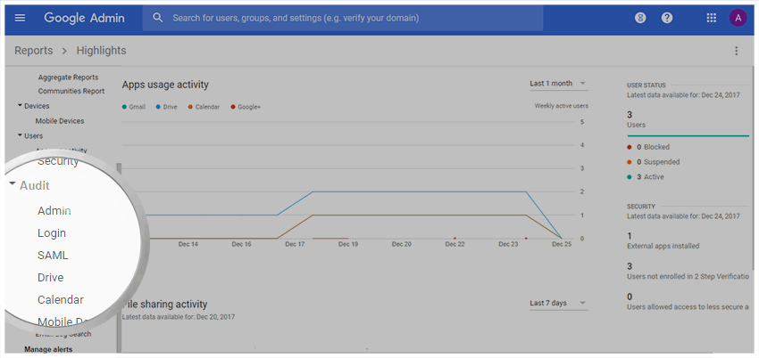 Google Drive Audit Log - Google Audit Reports