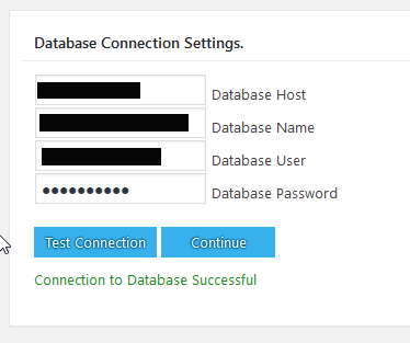 Test the BackWPup Restore database connection